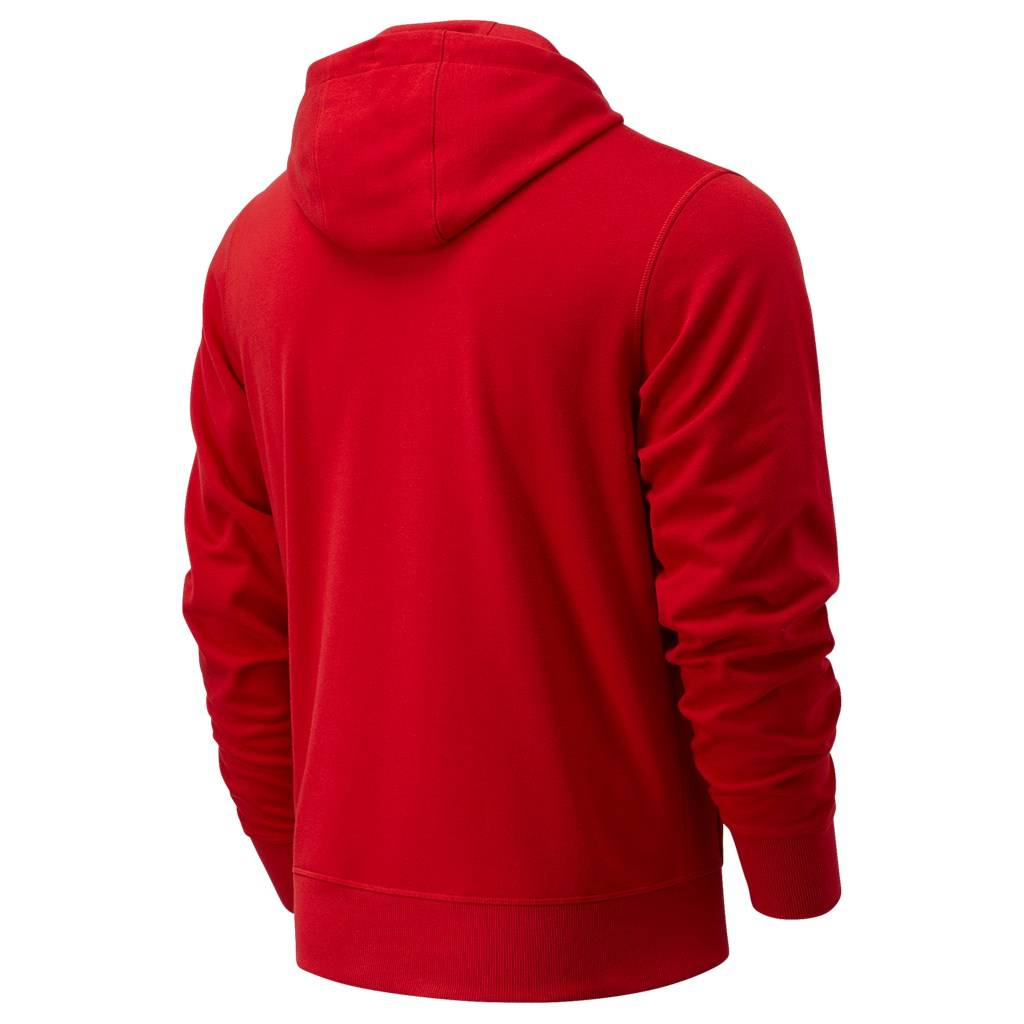 New Balance - Essentials Stacked Logo PO Hoodie - team red (REP)