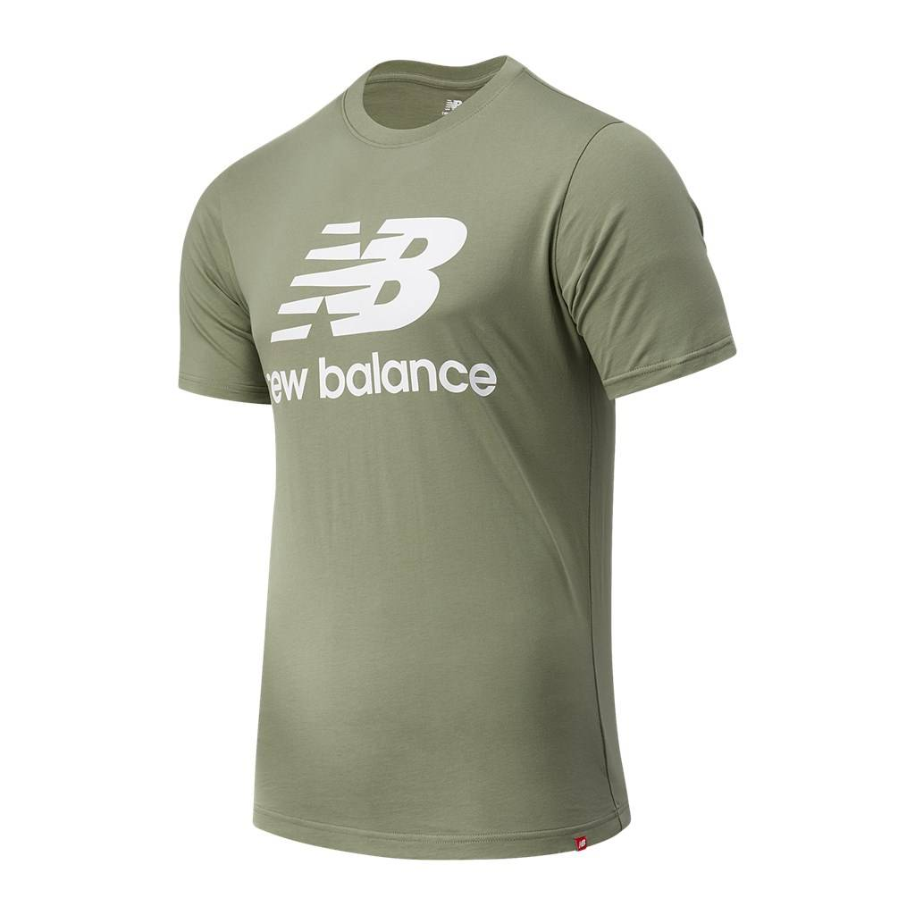 New Balance - Essentials Stacked Logo T - celadon