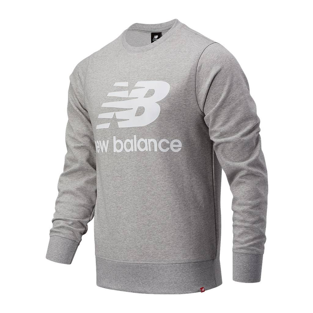 New Balance - Essentials Stacked Logo Crew - athletic grey