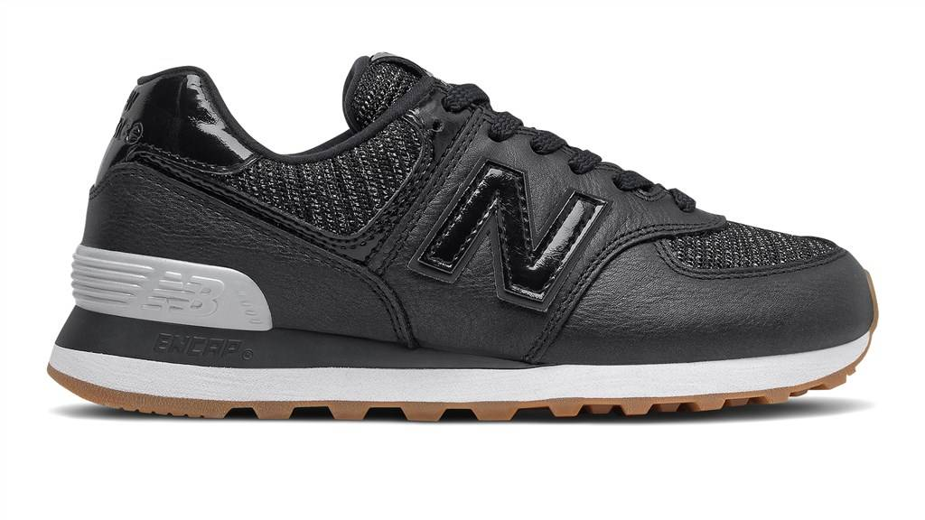 New Balance - WL574PMD - black/coral