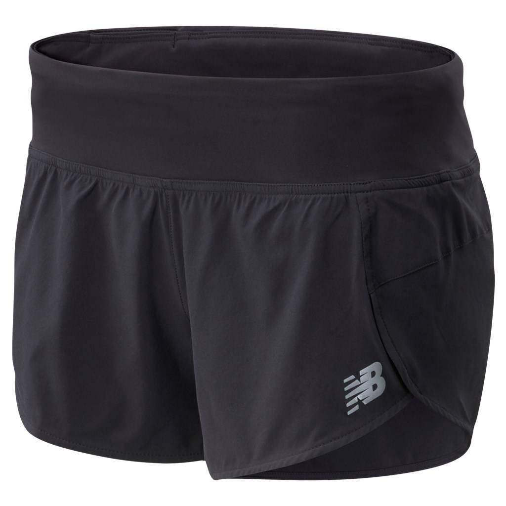 New Balance - W Impact Run Short 3 In - black