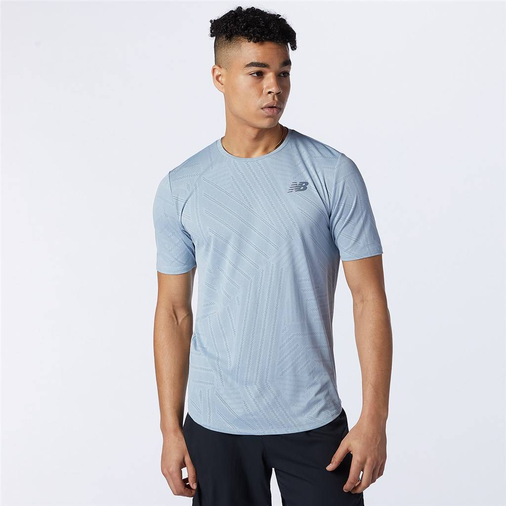 New Balance - Q Speed Fuel Short Sleeve - light slate