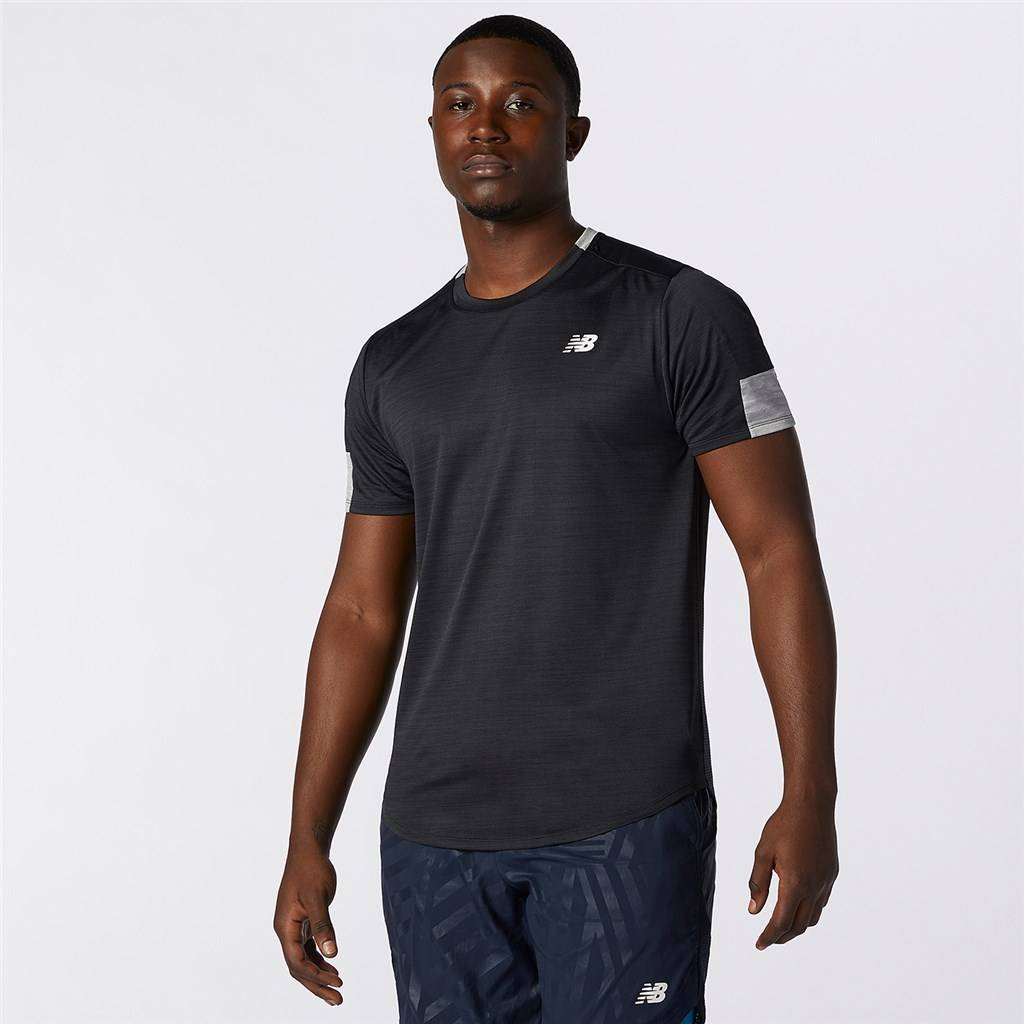 New Balance - Fast Flight Short Sleeve - black heather