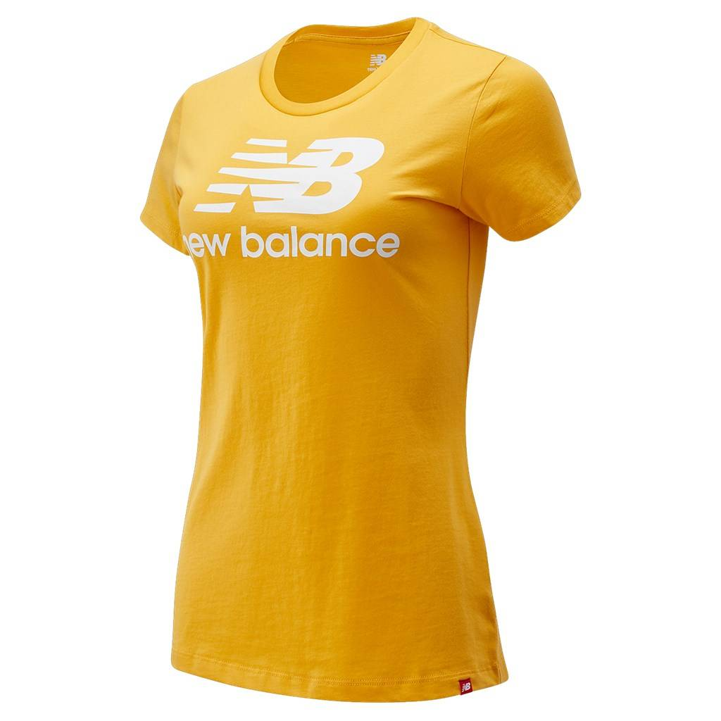 New Balance - W Essentials Stacked Logo Tee - aspen