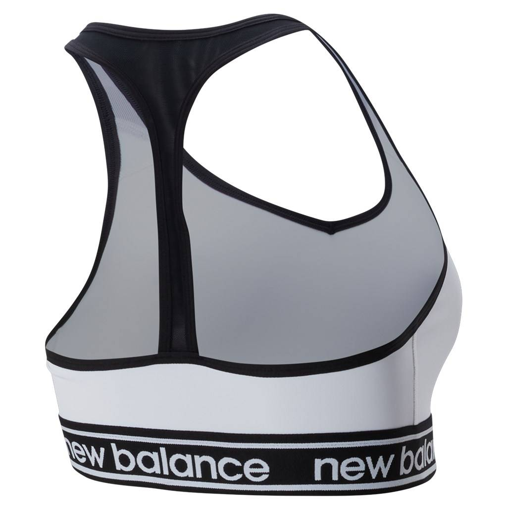 New Balance - W NB Pace Bra 2.0 - white/black