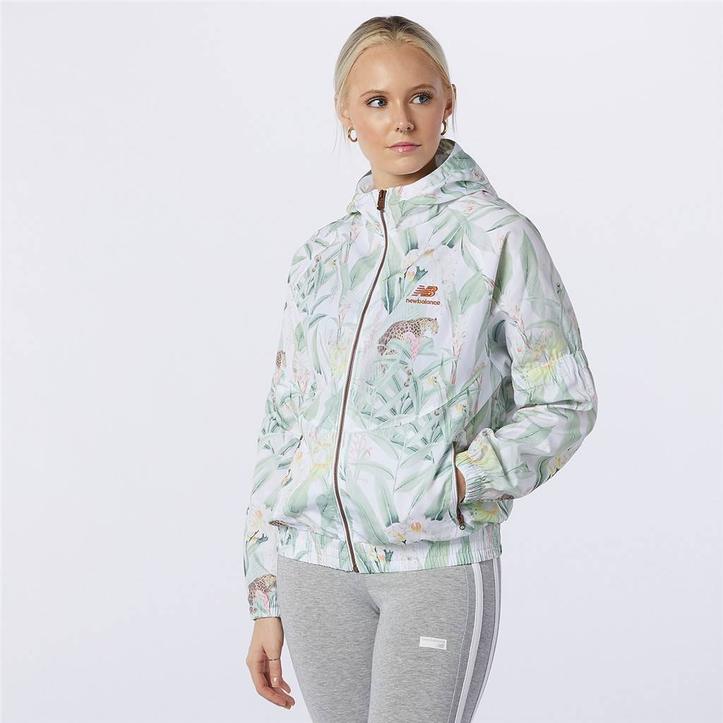 New Balance - W NB Essentials Botanical Jacket - white print
