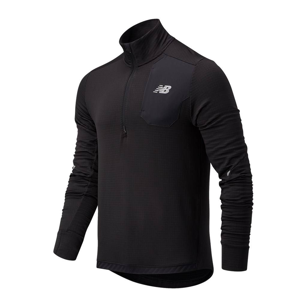 New Balance - Impact Run Grid Back Half Zip - black