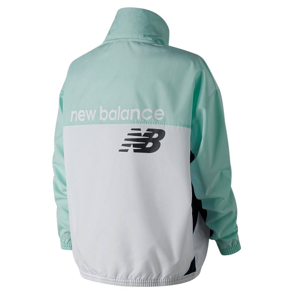 New Balance - W NB Athletics Windbreaker Pullover - light reef
