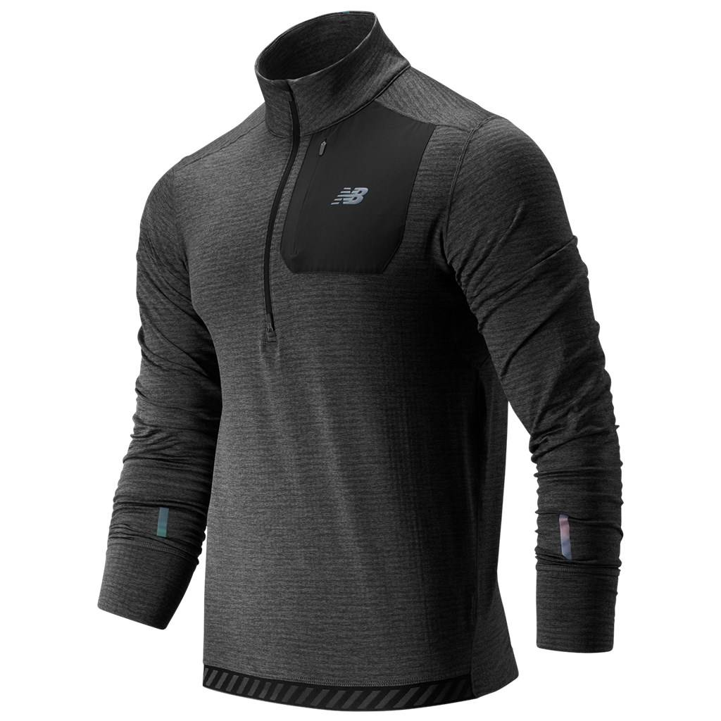 New Balance - NB  Heat Qtr Zip - heather charcoal