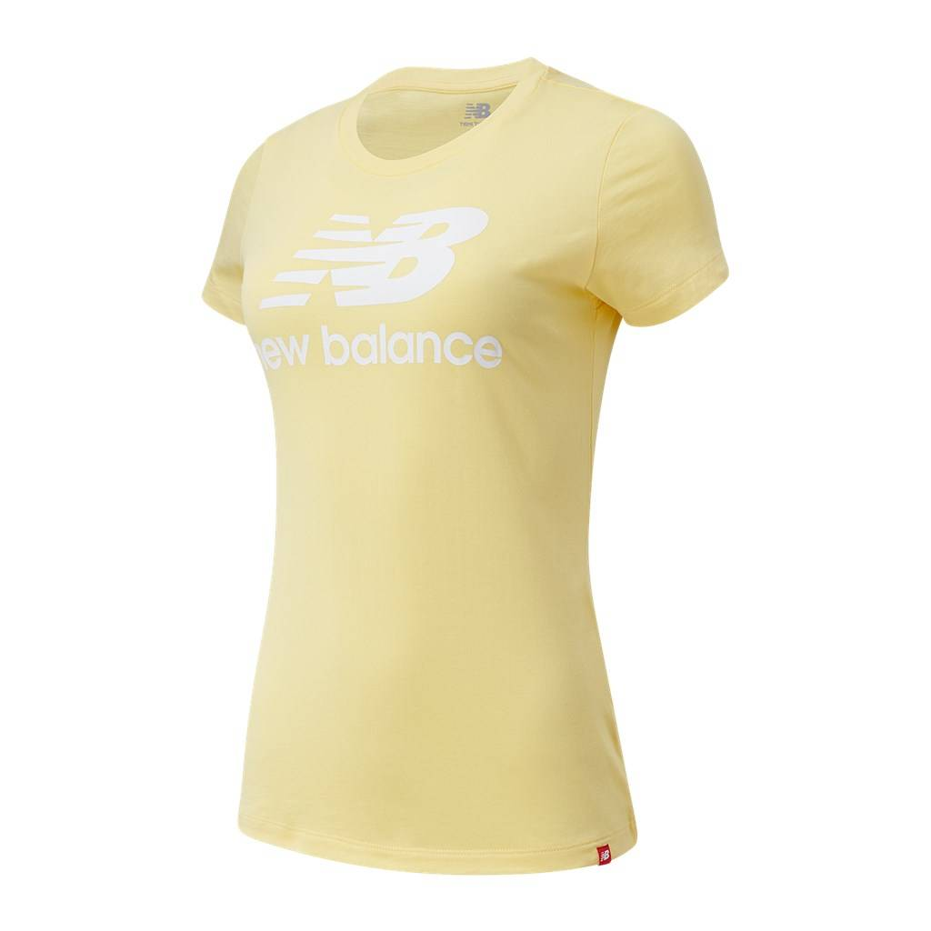 New Balance - W Essentials Stacked Logo Tee - lemon haze