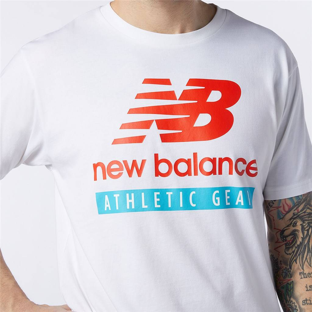 New Balance - NB Essentials Logo Tee - white