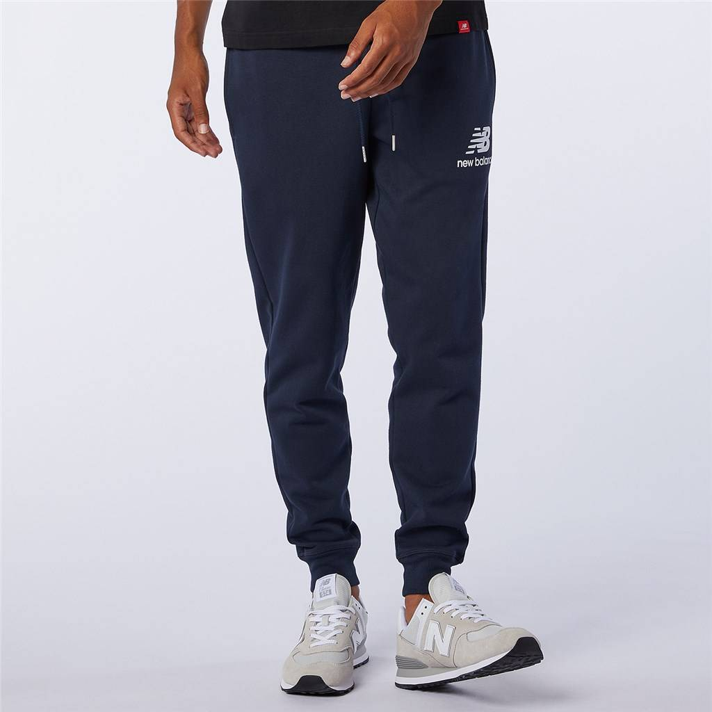 New Balance - Essentials Stacked Logo Sweatpant - eclipse