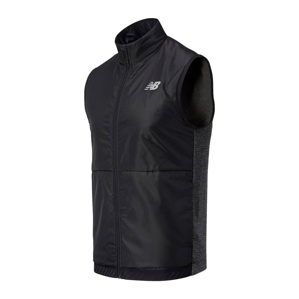 New Balance - Impact Run Grid Back Vest - heather charcoal