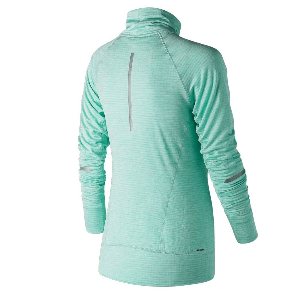 New Balance - W NB Heat Pullover - water vapor heather