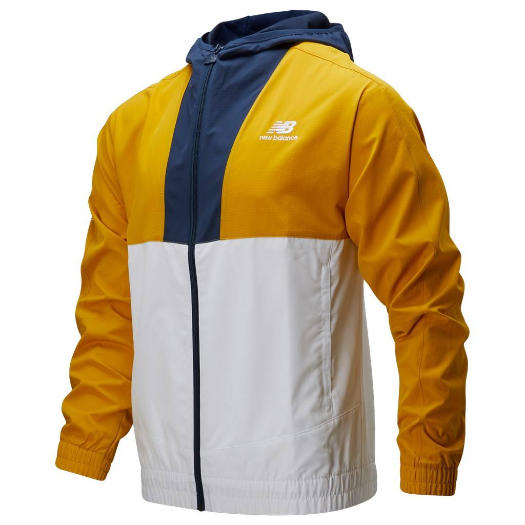 New Balance - NB Athletics Full Zip Windbreaker - varsity gold