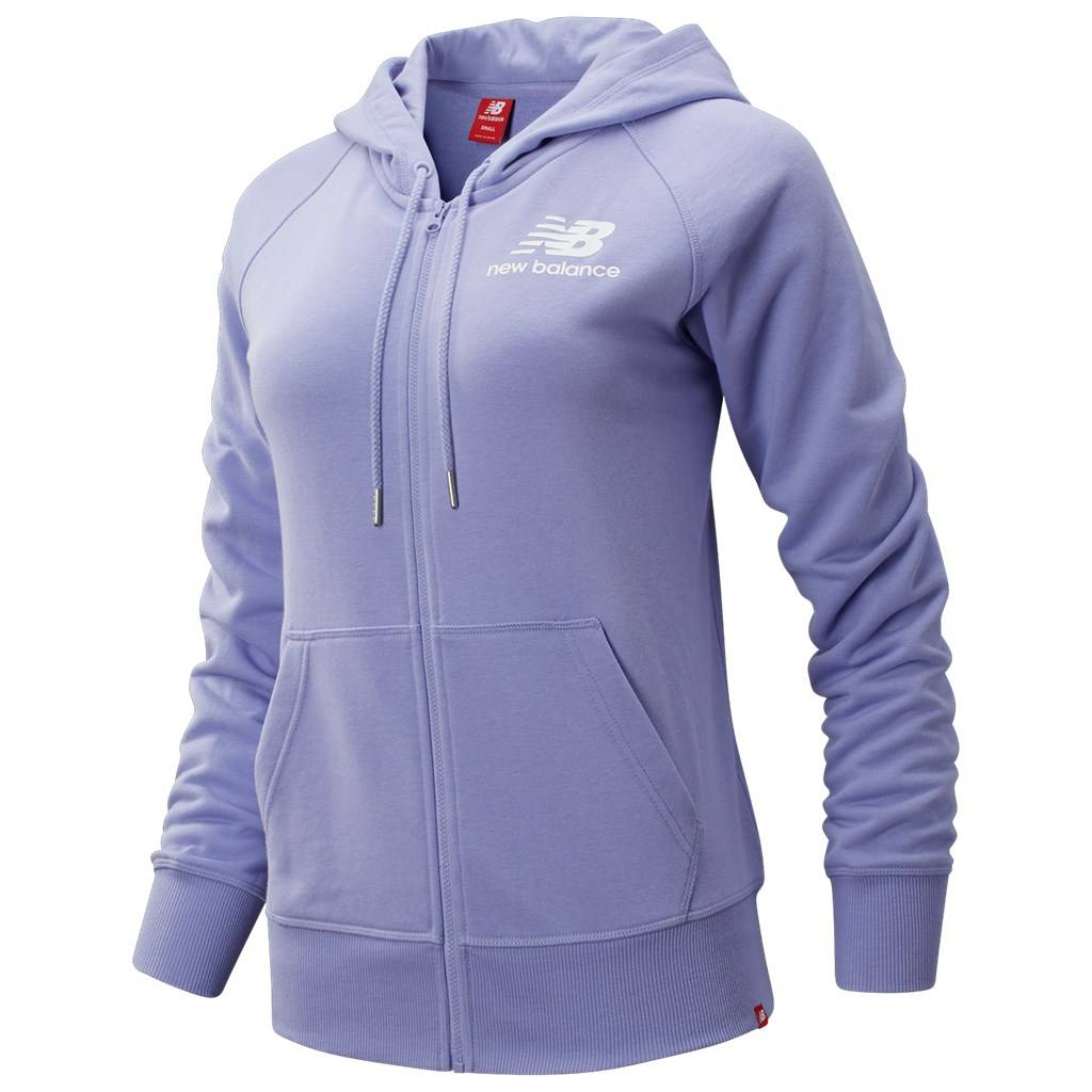 New Balance - W Essentials FZ Hoodie - clear amethyst