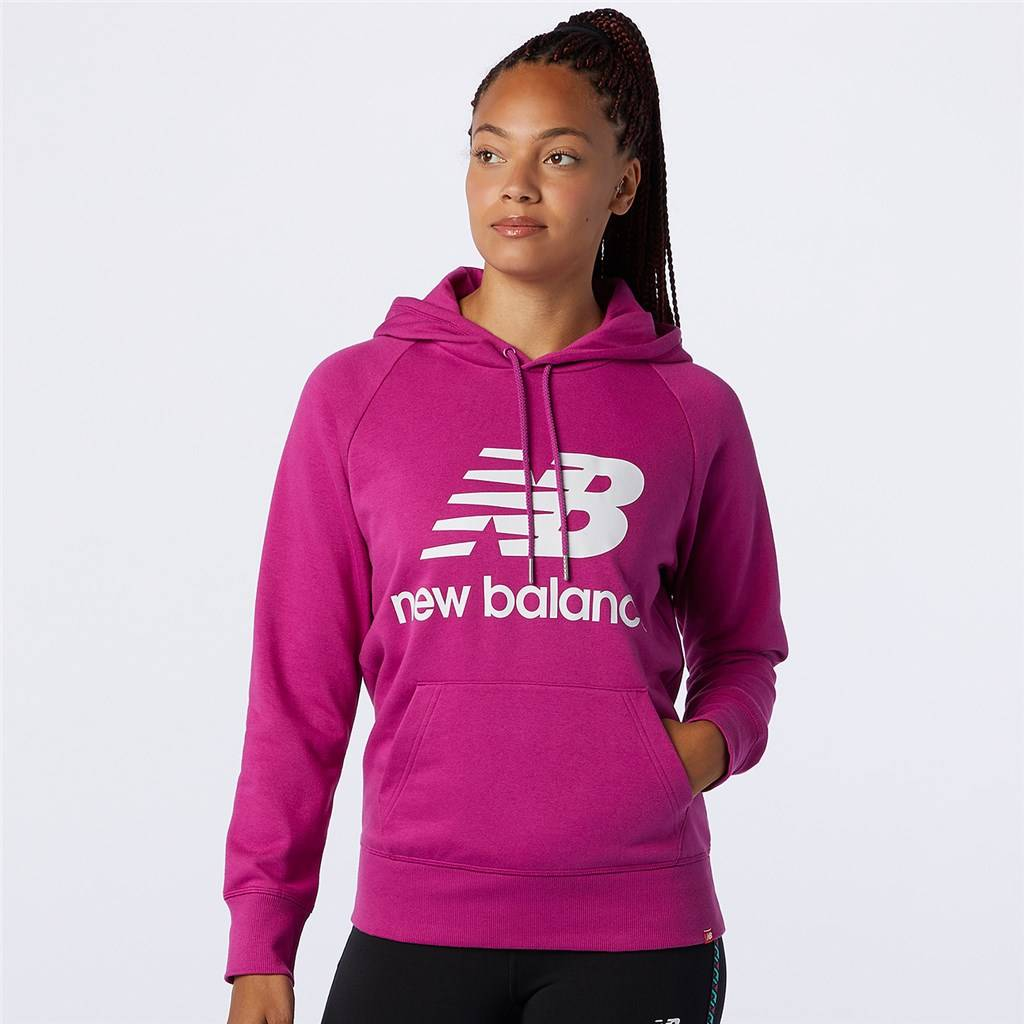 New Balance - W Essentials Pullover Hoodie - jewel