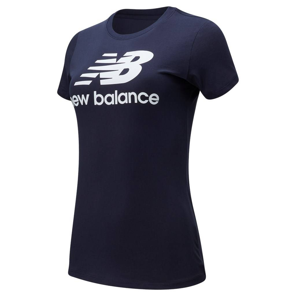 New Balance - W Essentials Stacked Logo Tee - eclipse
