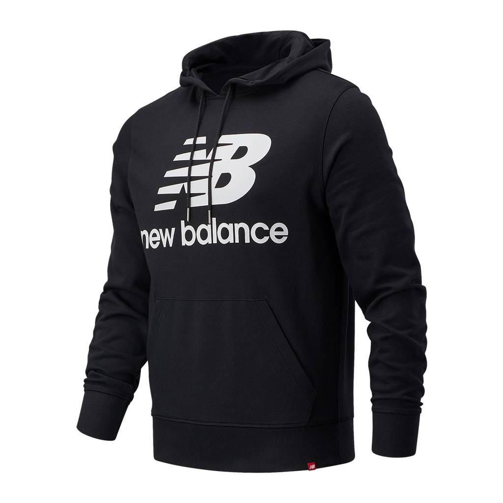 New Balance - Essentials Stacked Logo PO Hoodie - black