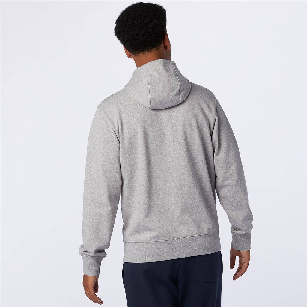 New Balance - Essentials Stacked Full Zip Hoodie - athletic grey