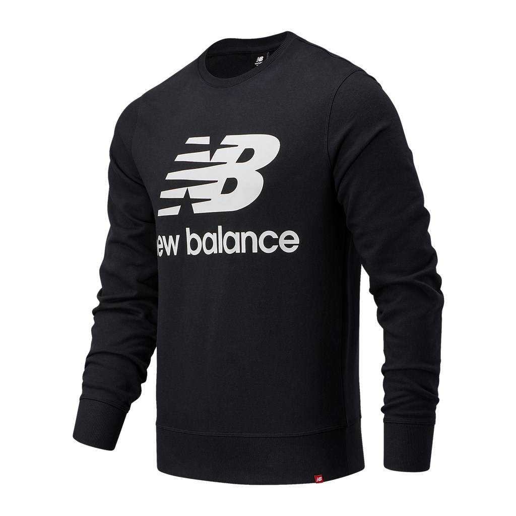 New Balance - Essentials Stacked Logo Crew - black
