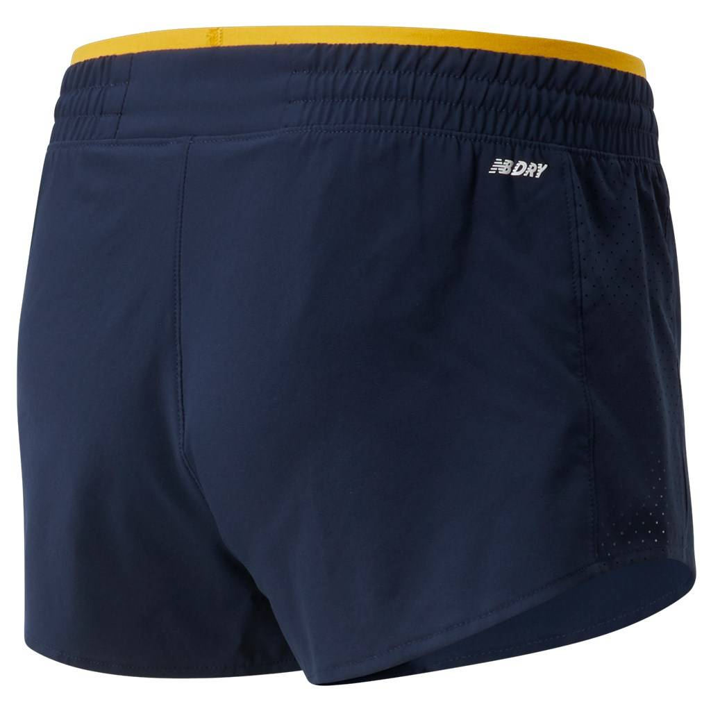 New Balance - W Fast Flight Split Short - varsity gold
