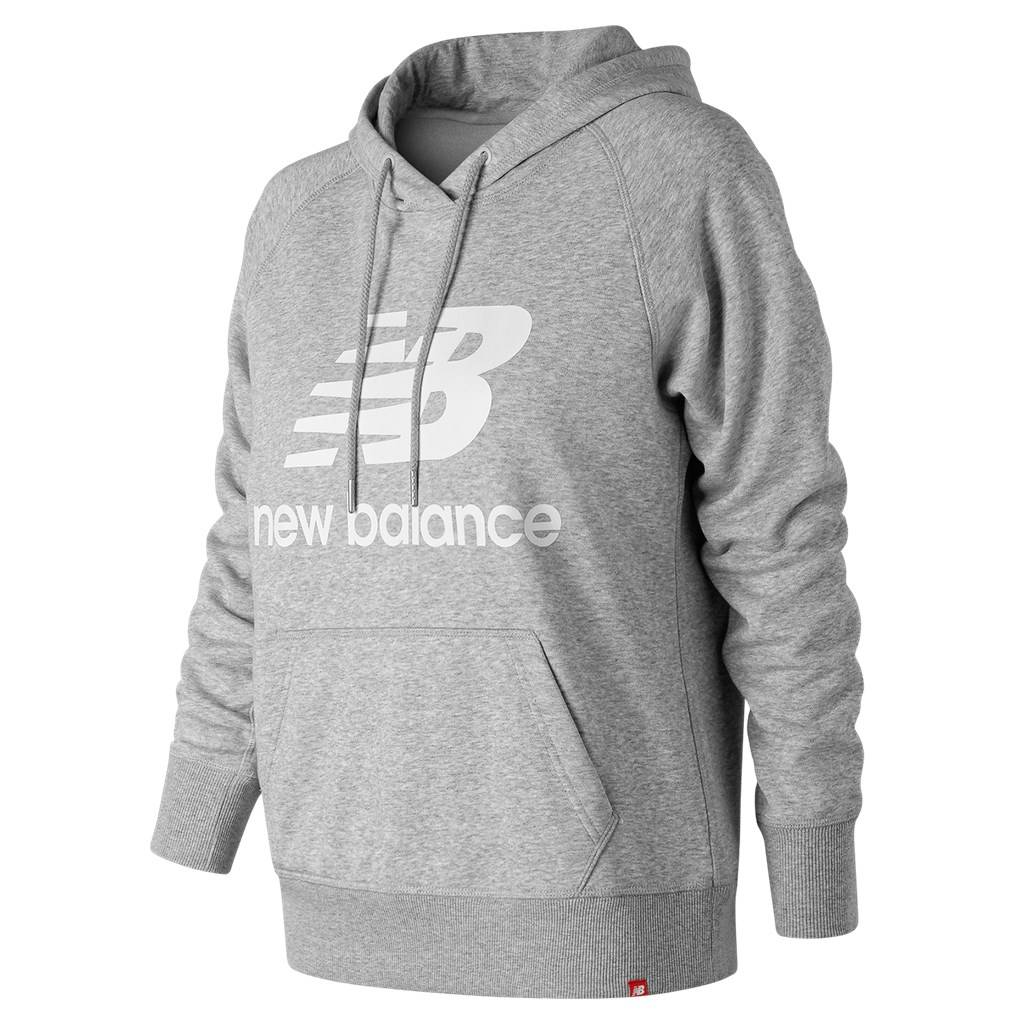 New Balance - W Essentials Pullover Hoodie - athletic grey