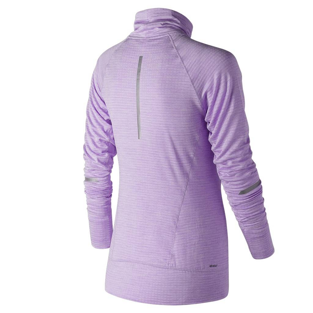 New Balance - W NB Heat Pullover - violet glo heather