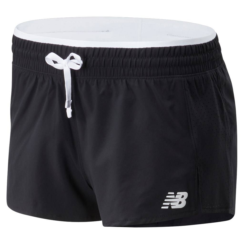 New Balance - W Fast Flight Split Short - black/white